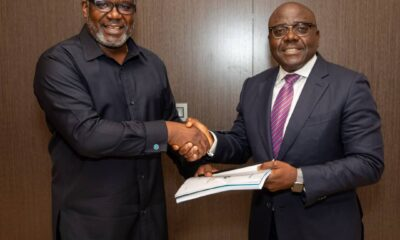 ☝️L-R: Pioneer Chairman,Demola Adeyemi-Bero and New Chairman Governing Council, Abdulrazaq Isa; during the Independent Petroleum Producers Group (IPPG)first leadership transition and hand-over event held at the Waltersmith Head-Office in Ikoyi, Lagos recently....